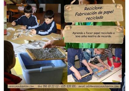 Facendo papel reciclado