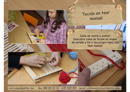 Tecido en tear manual